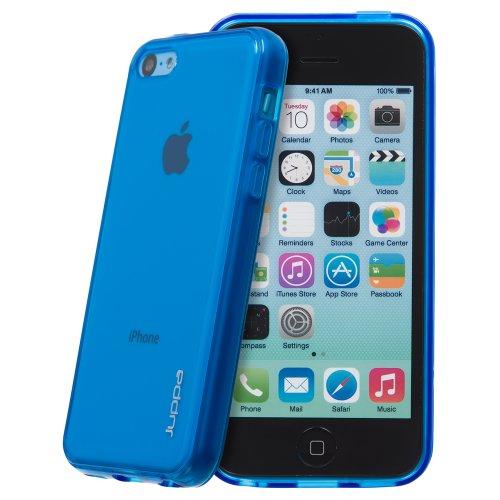 Juppa® Apple Iphone 5C TPU Silikon Tasche Hülle Schutzhülle mit LCD displayschutzfolie - Blau / Blue
