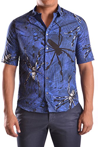 McQ Alexander McQueen Men's Mcbi206016o Blue Cotton Shirt
