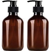 Calayu Zeepdispenser, 2 stuks, 500 ml, dispenserflessen lotion, navulbare lege flessen, pompflessen voor lotion, shampoo…