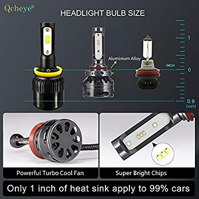9012 LED Headlight Bulbs - 13000Lm 6000K Cool White,9012 All-in-One Conversion Kit,360°Adjustable Beam: Automotive