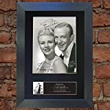 FRED ASTAIRE & GINGER ROGERS Signed Autograph Mounted Photo Repro A4 Print no599 (Un-framed)