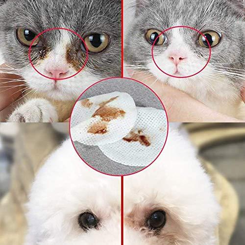 SCOBUTY Augen-Reinigungspads, Haustier-Augen-Tücher, Milde Augen-Reinigung ohne zu Reizen, Entfernt sanft Tränenstein und Speichel-Reste, 200 Stück