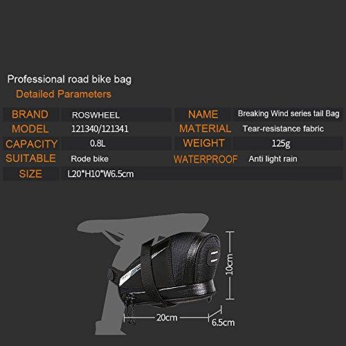 Roswheel Professional Road Bike Bag Bike Saddle Bag Bicycle Seat Storage Bags by Roswheel (Image #3)