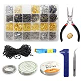 what is beadboard Jewelry Making Supplies Kit, The perseids Jewelry Findings Set Jewelry Repair Tools DIY Kit with Pliers Findings, Beading Wires, Tweezer, and Brass Ring