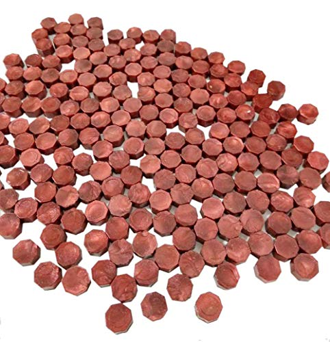 QHZHANG 200pcs Wine Red Sealing Wax Beads for Documents Sealing (Wine Red)