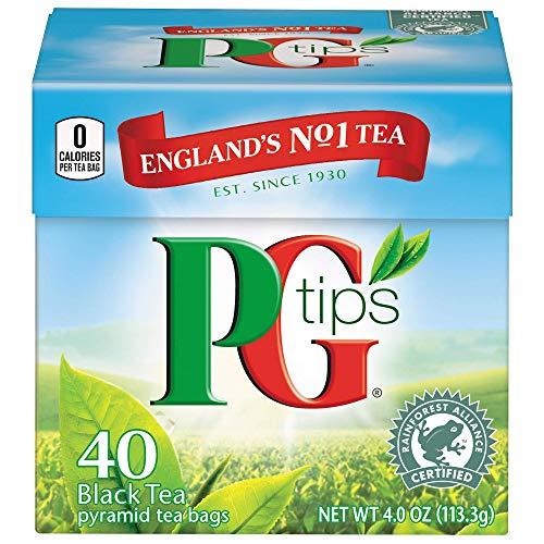 PG Tips Premium Black Tea, Black Tea Pyramid Bags, 40 ct ()
