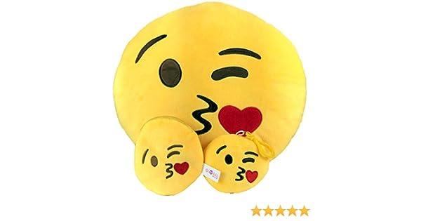 Emoji almohada libre llavero cadena & suave dinero Monedero cartera Monedero, diseño de caca falsa sonriente emoticono cojín de peluche en forma de ...