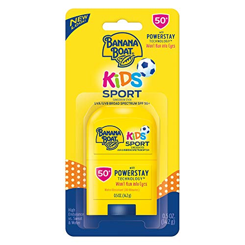 - Banana Boat Kids Sport Broad Spectrum Sunscreen Stick with SPF 50, 0.5 Ounce