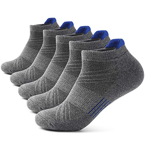 Mens Ankle Athletic Socks Men's Running Sports 5/7 pairs Socks Comfort Cushioned Running Tab Socks