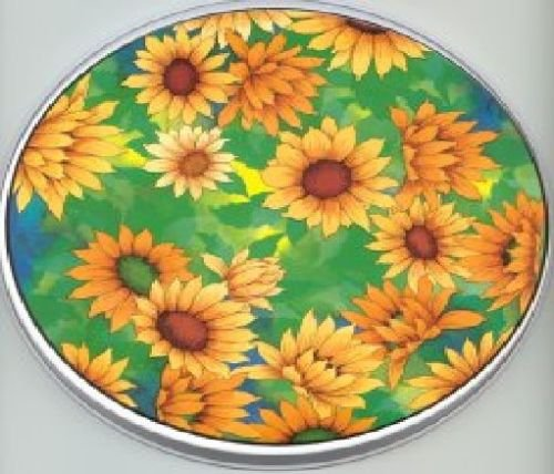 (Green Sunflower Electric Round Stovetop Burner)