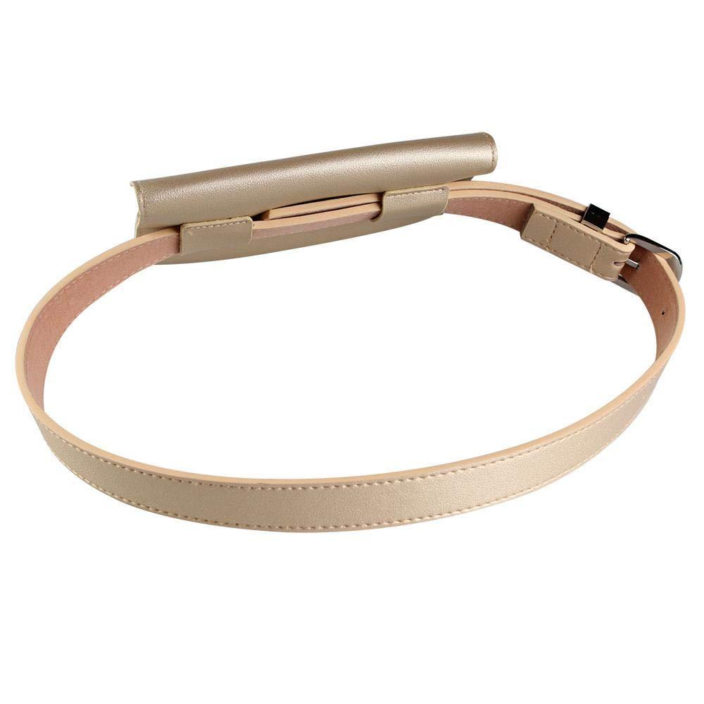 KOBWA Bolsas de Piel para Mujer con cintur/ón extra/íble y Bolsa para la Cintura para el d/ía de San Valent/ín Blanco