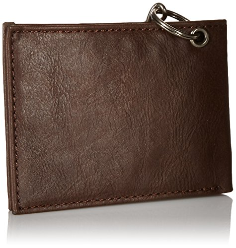 Dickies Men's Leather Slimfold Wallet With Chain,Brown,One Size