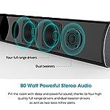 MEGACRA UP-S9920 Sound Bar, Bluetooth Soundbar 38 Inch Home Theater System TV Speaker (80 Watt, for 42+