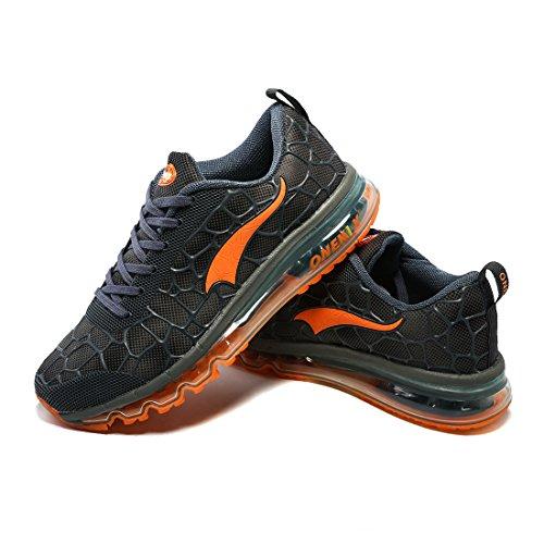 Chaussures Marche Orange Sport Fitness Course Coussin Hommes Sneaker Air Athlétique Baskets pour Max de Bleu Running Femmes Lac et ONEMIX H1pxnfPYf