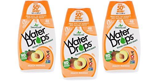 Sweetleaf Water Drops 1.62 fl.oz. 3 Pack (Peach Mango) by SweetLeaf (Image #2)