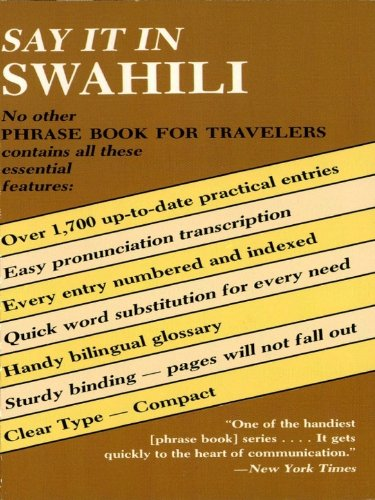 Say It In Swahili  Dover Language Guides Say It Series   English Edition