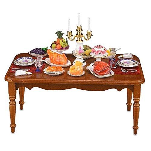 Casa de Muñecas Completo con Sujetavelas Cena Mesa Reutter Muebles de Comedor