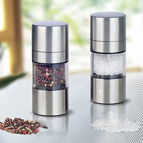 M$M shop Stainless steel salt guide, pepper mill, seasoning mugger, kitchen tools, kitchen accessories, kitchen gadgets
