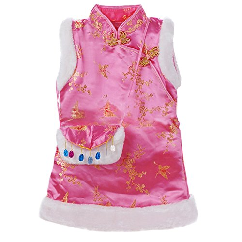 Chinese Traditional Costume For Girls (Qiancheng Babys Tang Suit Waistcoat Autumn Winter New Style Phoenixtail girls Chinese Traditional Costume Dress)
