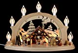 Candle arch Christmas parlor - 57x38x15cm / 22x15x6 inch - Zeidler Holzkunst