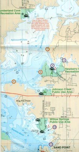 Lake Texoma Fishing Map (Oklahoma Fishing Map Series, (Fishing Hot Spots Map)