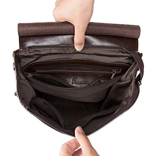 Mochilas Mujer Mochila Cuero Bolsos Mochila Piel Bolso Bandolera de Mano Daypacks Negro Marrón Oscuro