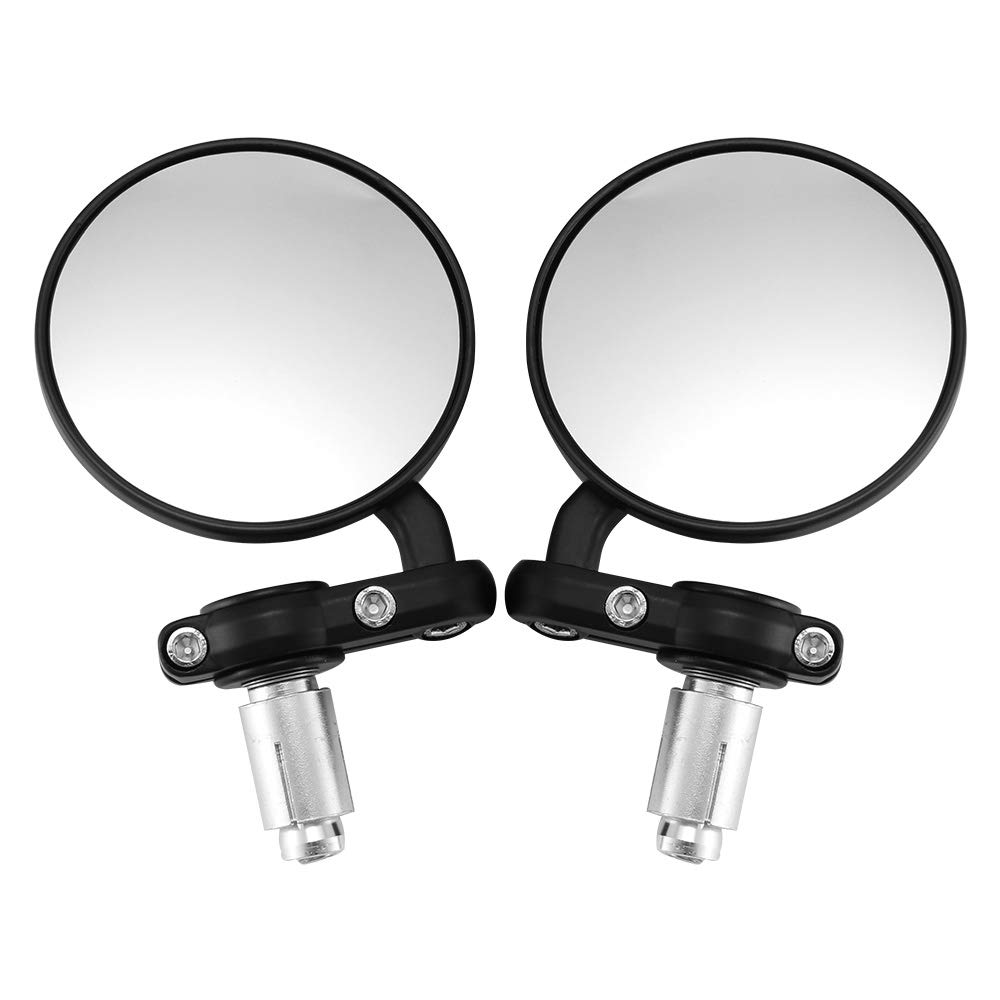 2 Pack Kawasaki 3 Round Folding Bar End Mirror for Motocycle Scooter Moped Polaris Sportsman Honda ATV Universal Motorcycle Mirrors Rearview Mirror Yamaha Dirt Bike Cruiser for 7//8 Handle Bars