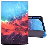 Dopup Fire HD 8 Case Tablet(7th Generation,2017 Release) Stand Protective Smart Cover with Auto Sleep/Wake(Galaxy)