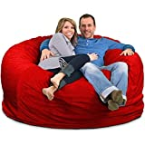 ULTIMATE SACK Bean Bag Chairs in Multiple Sizes and Colors: Giant Foam-Filled Furniture - Machine Washable Covers, Double Sti