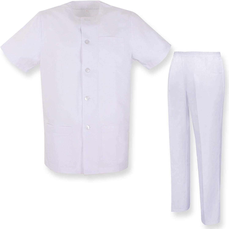 Ref.829 Uniforme M/édical avec Haut et Pantalon Uniforme Clinique H/ÔPITAL Nettoyage V/ÉT/ÉRINAIRE SANT/É H/ÔTELLERIE Misemiya