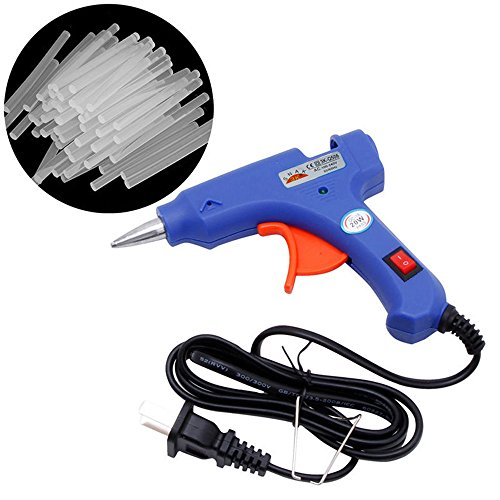 Blytieor Hot Glue Gun with 50 Pieces Melt Glue Sticks Melting Adhesive Glue Gun Kit for DIY Small Craft and Quick Repairs in Home & Office, 20 Watt (50pcs)