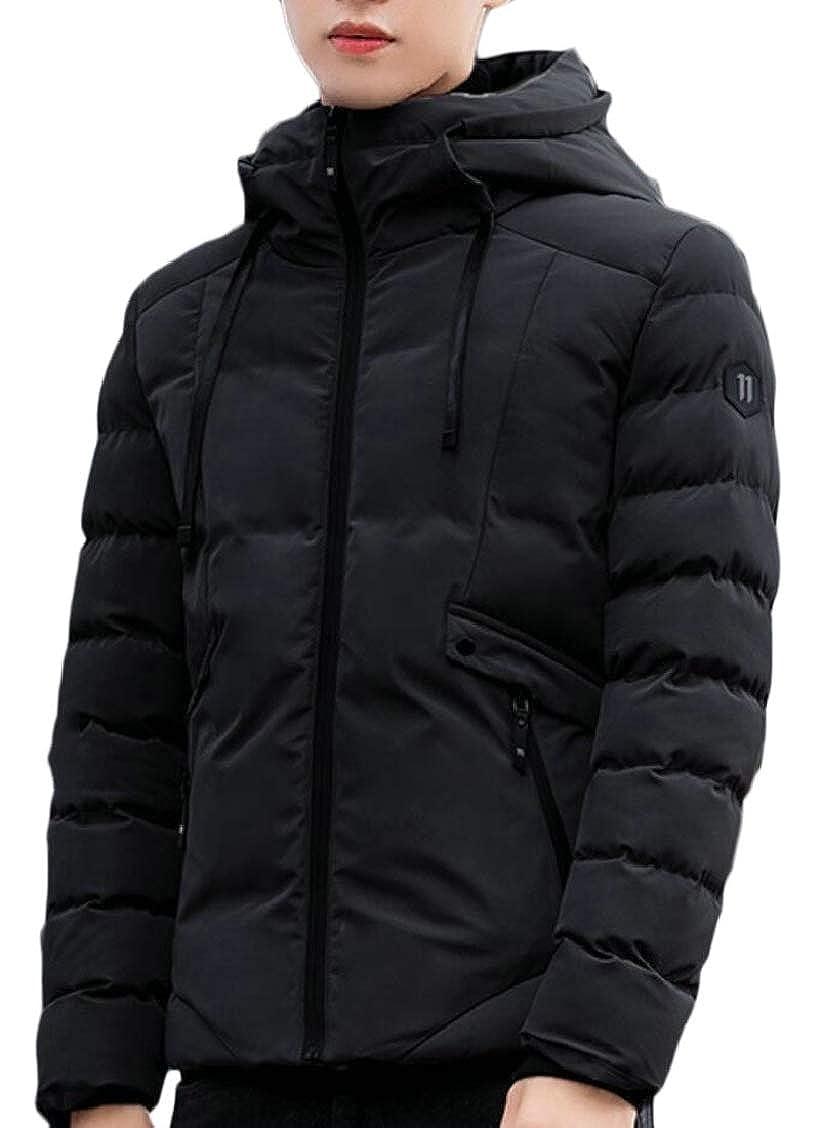 XQS Mens Down Jacket Hoodie Coat Casual Overcoat