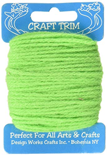 Darice 455761 Craft Yarn 20 yd, Lime