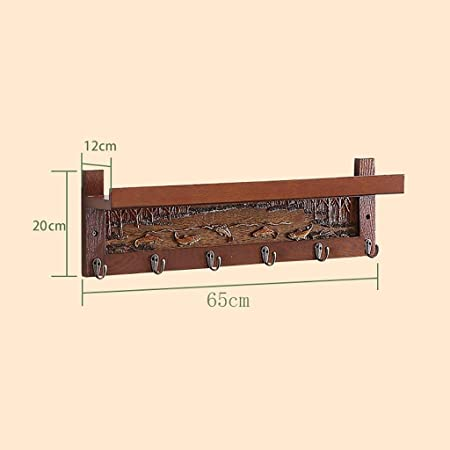 Amazon.com: JF-YMJ Home Porch Wall Hanging Solid Wood Coat ...