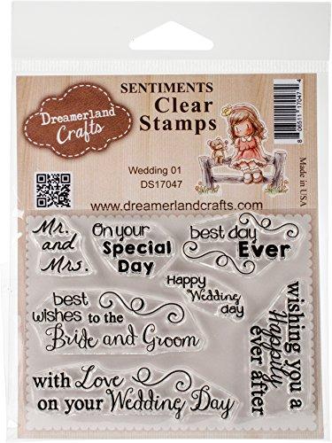 DreamerlandCrafts Wedding 01 Clear Stamp Set, 3