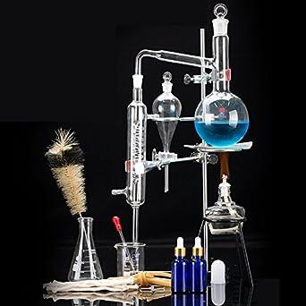13pcs Glass Distillation Apparatus Chemistry Lab Glassware Kit Water Distiller Purifier New 500ml