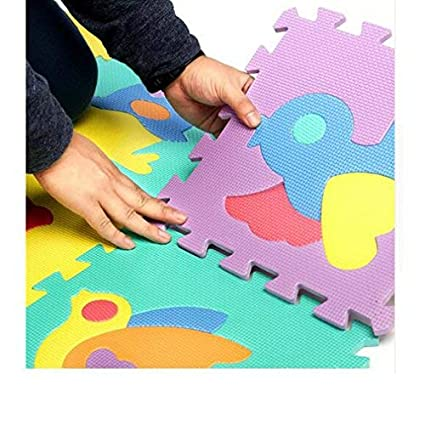 1CM Cheval Noir H.B.YE 9Pcs Tapis de Puzzle Cartoon En Mousse Anti-d/érapant Antichoc Jeu Apprendre Imagination Pour B/éb/é Taille 30 30