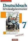 Deutschbuch Gymnasium - Bayern: 7. Jahrgangsstufe - Schulaufgabentrainer mit Lösungen