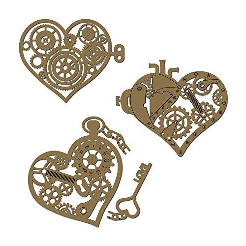 Steampunk Heart Set - 4 Piece Laser Cut Chipboard Set ()