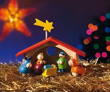 Kinder Weihnachtskrippe.Selecta Spielzeug 5220 Weihnachtskrippe Fur Kinder Hergestellt In Deutschland