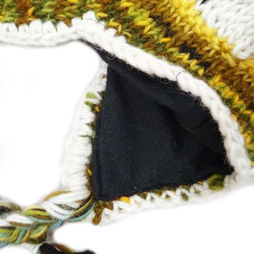 Knit Cap D'hiver Mode Ski Bonnets Main Hiver Chapeaux Blend Laine Multicolore De FFvrZ