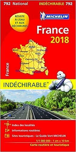 Cartina Stradale Francia Michelin.Amazon It Francia Impermeabile Strassen Und Tourismuskarte