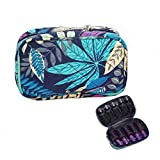 10 Bottles Essential Oil Carrying Case Holds for 5ml 10ml 15ml Storage Bag (Maple leaf Pattern)