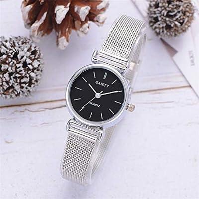 Amazon.com: Dilwe - Reloj de pulsera para mujer, 2 colores ...