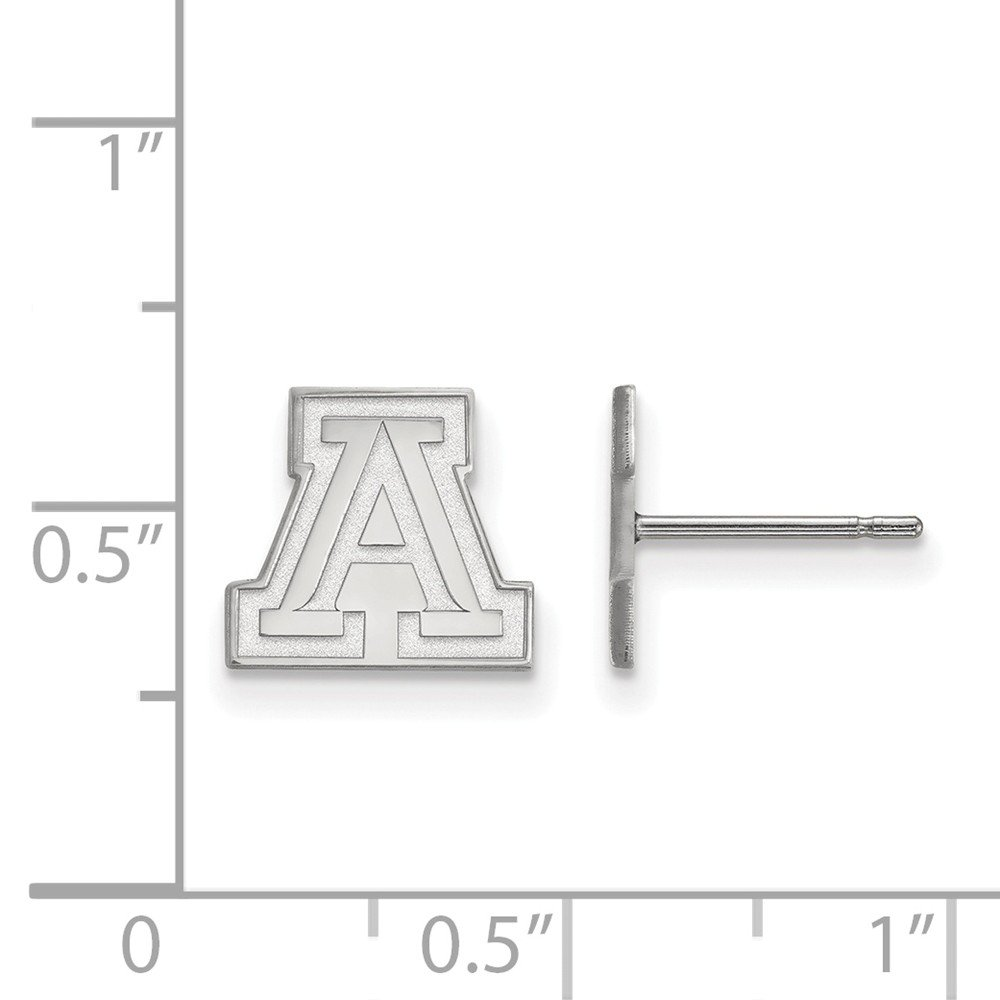 Collegiate University of Arizona Sterling Silver LogoArt University of Arizona XS Post Earrings
