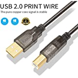 Printer Cable USB Printer Scanner Cable 10ft High Speed USB 2.0 A Male to B Male Cord for HP, Canon, Epson, Dell, Samsung etc