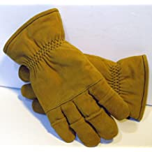 Size Medium - Tan Firefighter Heavy Duty Work Gloves NFPA Rated