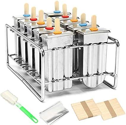ZUEN Kit de moldes para paletas de Hielo, moldes para paletas de ...