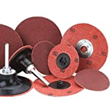 Merit 3'' X 2-Ply 36 Grit Aluminum Oxide Powerlock TS (Type II) Quick Change Cloth Disc