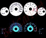 00-05 Dodge Neon w/ Tach WHITE REVERSE GLOW GAUGES